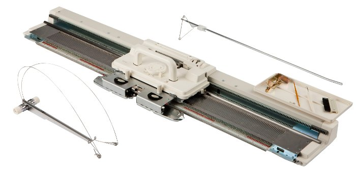 Silver Viscount SK280 Punchcard Knitting machine